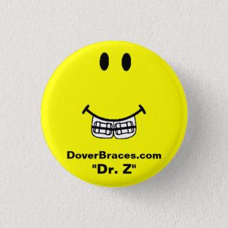 "Smile Image, DoverBraces.com, ""Dr. Z"" 3 Cm Round Badge"