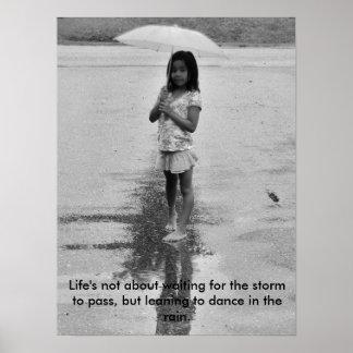 Smile in the rain poster