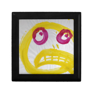 Smile In Yellow With Fushia Eyes Small Square Gift Box