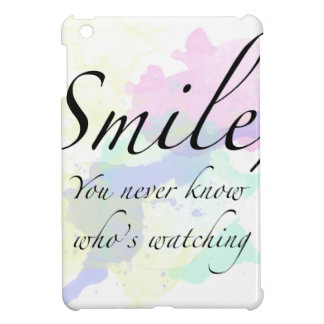 smile iPad mini cover
