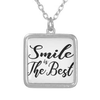 Smile is the best silver plated necklace