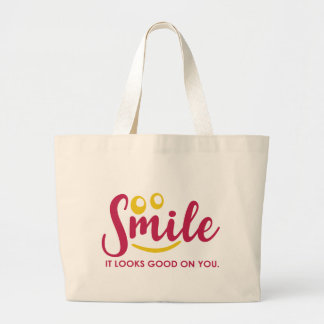 Smile it looks good on you tote bag