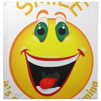 Smile! It's Easier than Frowning Napkin