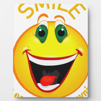 Smile! It's Easier than Frowning Plaque