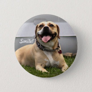 Smile! It's a Dog-on Good Day! 6 Cm Round Badge