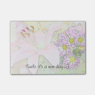 Smile it's a new day post notes post-it® notes