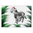 Smile Its Christmas Funny Donkey Greeting Card