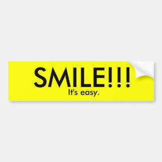 SMILE!!!, It's easy. Bumper Sticker