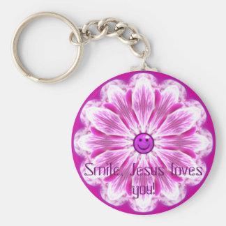 Smile, Jesus loves you! Key Ring