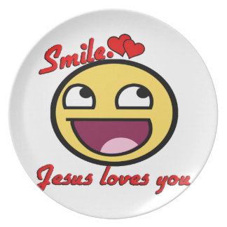 SMILE JESUS LOVES YOU PARTY PLATES