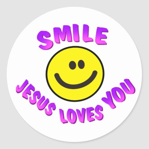 Smile, Jesus Loves You Sticker