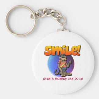 Smile Basic Round Button Key Ring