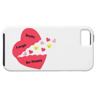 Smile, Laugh, Be Happy; Happy Hearts Tough iPhone 5 Case