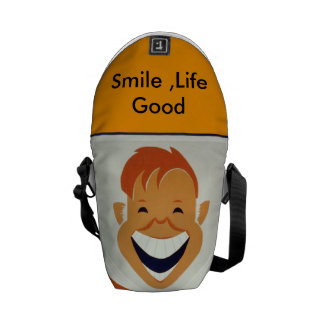 Smile life Good Bag . Cool ,Funny . Courier Bags