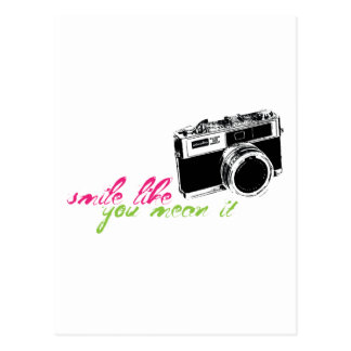 Smile Like you mean it Postcard