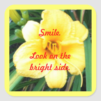 Smile. Look on the bright side stickers