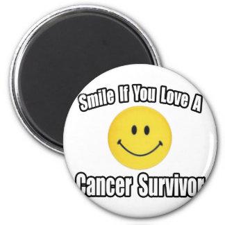 Smile...Love a Cancer Survivor Fridge Magnet