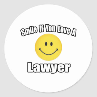 Smile...Love a Lawyer Classic Round Sticker