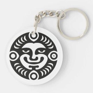 Smile & Monogram Double-Sided Round Acrylic Key Ring