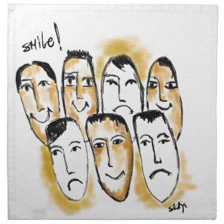 smile napkin