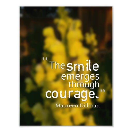 Smile of Courage Photograph