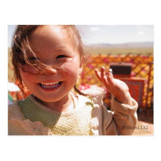 Smile of MONGOLIA Postcard