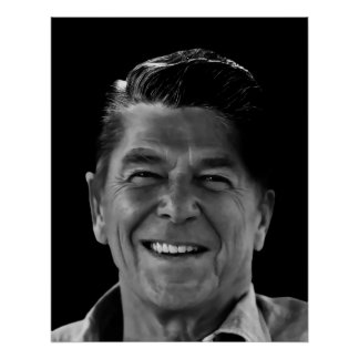 SMILE of RONALD REAGAN Poster