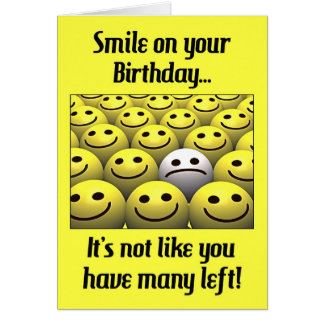 Smile on your birthday! greeting card