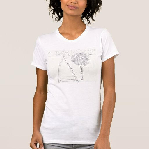 Smile Palm Tree And Mountain Doodle Shirt