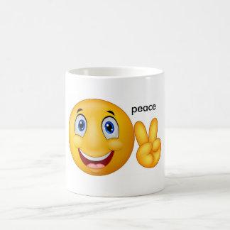 smile peace basic white mug