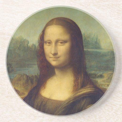 smile peace joy Mona Lisa Leonardo da_Vinci Coaster