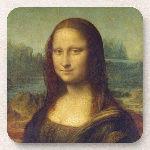 smile peace joy Mona Lisa Leonardo da_Vinci Beverage Coaster