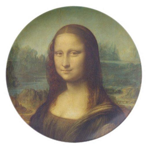 smile peace joy Mona Lisa Leonardo da_Vinci Plates