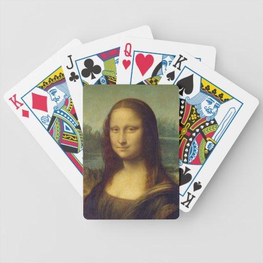 smile peace joy Mona Lisa Leonardo da_Vinci Bicycle Card Deck