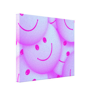 Smile pink gallery wrapped canvas