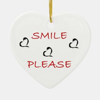Smile Please Ceramic Heart Decoration