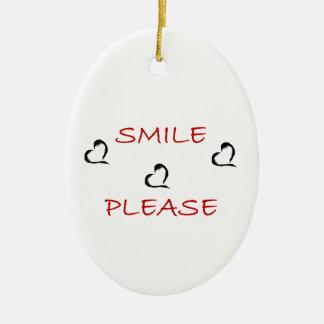 Smile Please Ceramic Oval Decoration