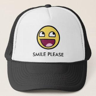 SMILE PLEASE TRUCKER HAT