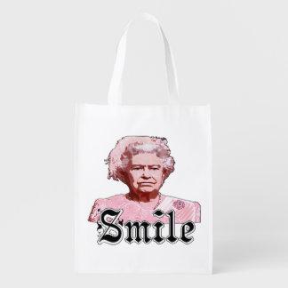 Smile Reusable Grocery Bag