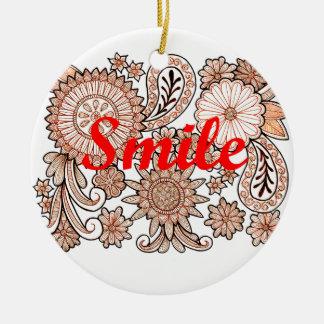 Smile Round Ceramic Decoration