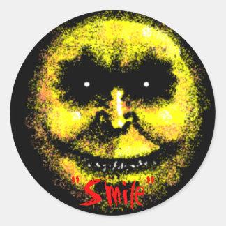"""""""Smile"""" Round Sticker"""