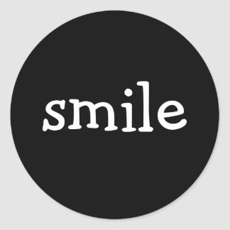 smile round sticker