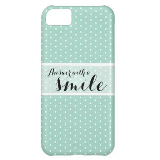 Smile | Sea Glass Green Polka Dot iPhone iPhone 5C Case