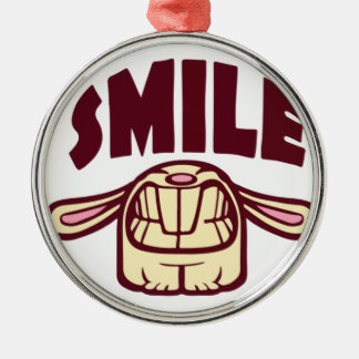 Smile Silver-Colored Round Decoration