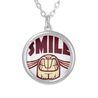 Smile Silver Plated Necklace