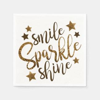 Smile Sparkle & Shine Disposable Napkins