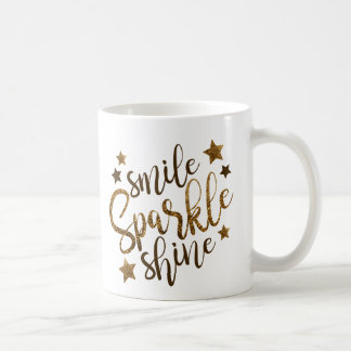 Smile, Sparkle, Shine Inspirational Coffee Mug