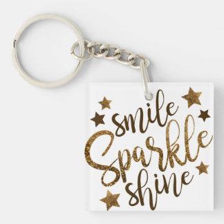 Smile, sparkle, shine key ring