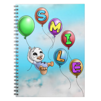 Smile Spiral Photo Notebook (80 Pages B&W)