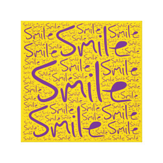 Smile Stretched Canvas Prints